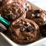 These small-batch chocolate cookies stuffed full of crushed Oreos and Andes are a little crunchy, a little minty, and completely delicious.