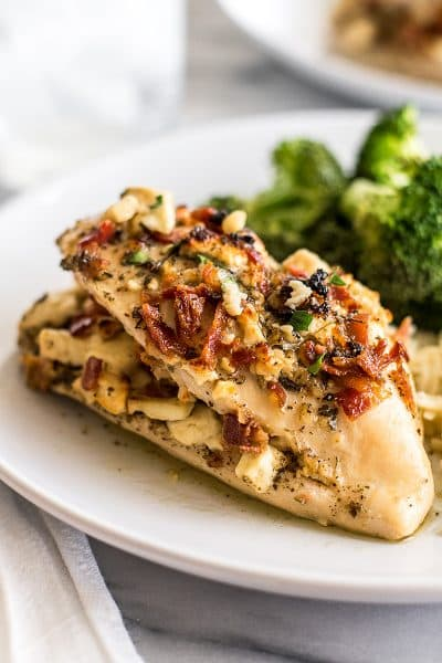 Bacon and Feta Stuffed Chicken Breast