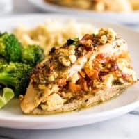Bacon and Feta Stuffed Chicken Breast is the perfect dish when you want something a little extra special for dinner.   Dinner for Two   Easy Chicken Recipes  
