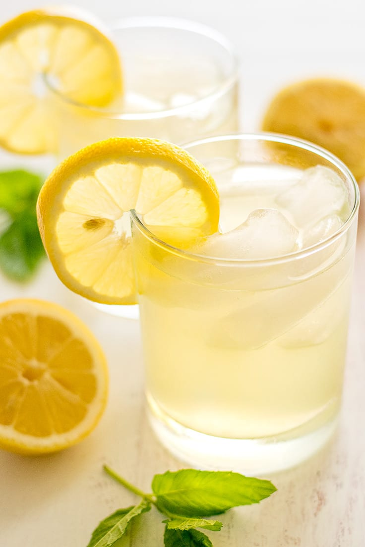How to make lemonade with just lemon juice sugar and water
