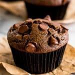 Small-batch Chocolate Chocolate Chip Muffins
