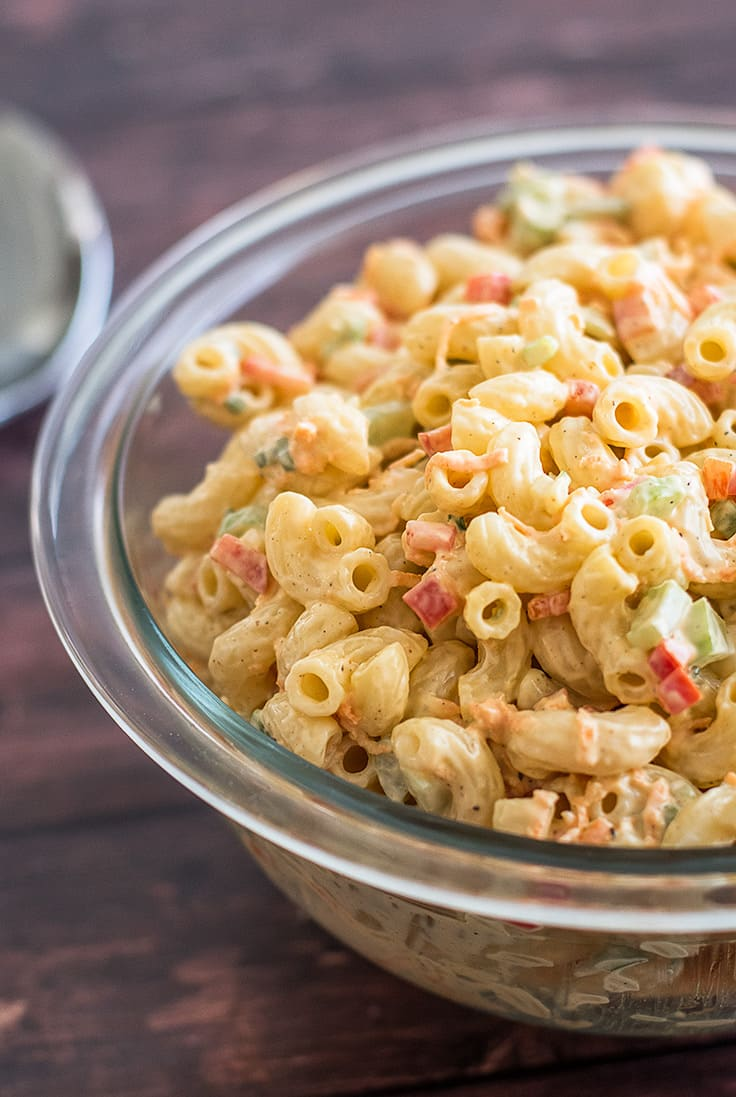 This Small Macaroni Salad is the BEST pasta salad in the world!