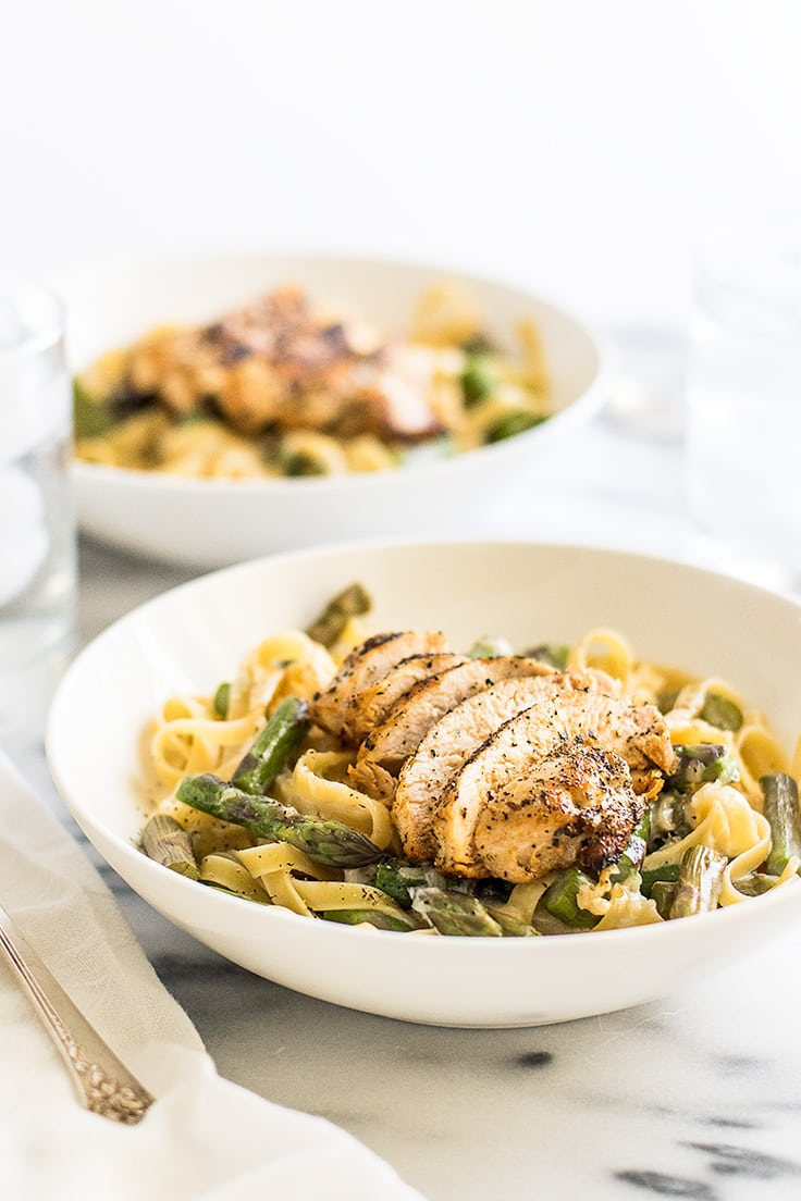 Creamy Chicken And Asparagus Pasta Dinner For Two Baking Mischief