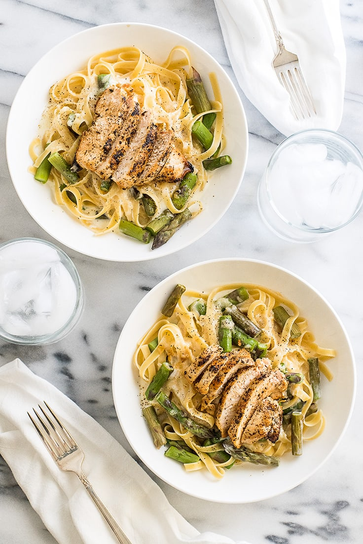 Chicken asparagus pasta- quick and easy dinner recipes that are super simple