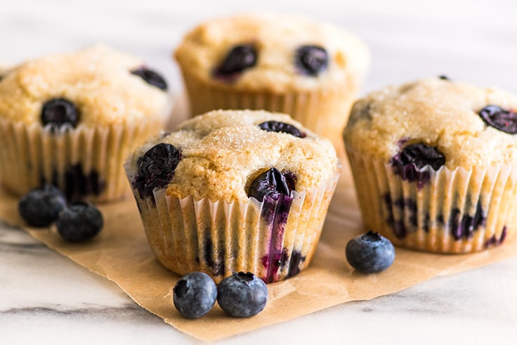 This Small-batch Blueberry Muffins recipe will make just four hearty muffins, perfect for you and someone special.