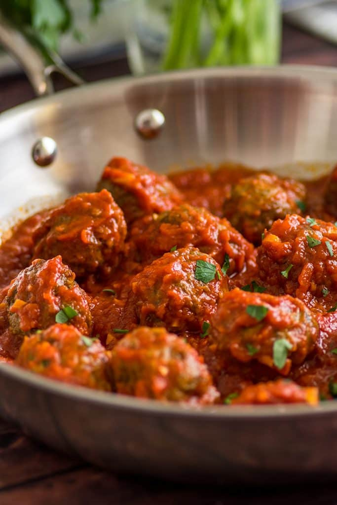 Freezer Meatballs reheat wonderfully in sauce or in the microwave.
