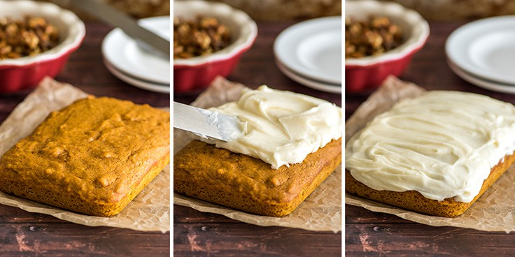 This Mini Pumpkin Cake has the BEST cream cheese frosting!! | #dessert #Pumpkin Desserts | Small-batch Desserts
