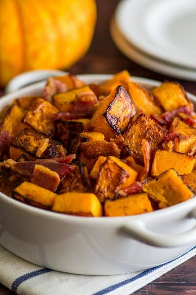 Roasted Bacon and Butternut Squash Side Dish
