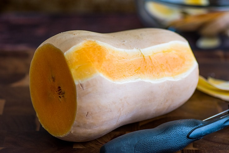 How to Cut Butternut Squash Step 2