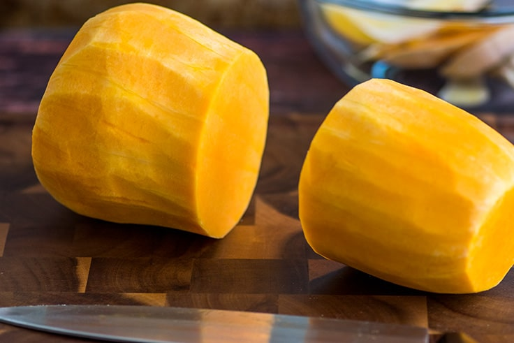 How to Cut Butternut Squash Step 3
