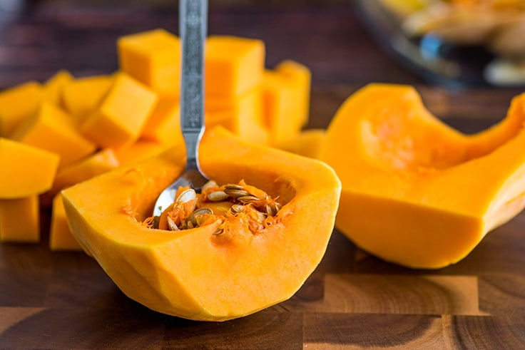 How to Cut Butternut Squash Step 6
