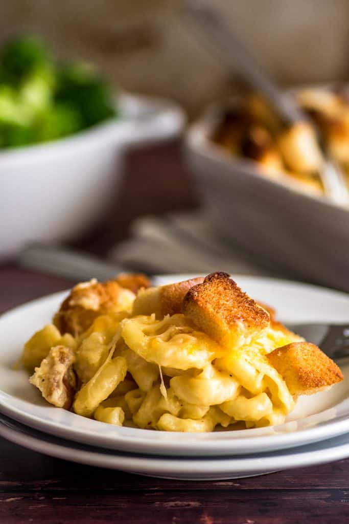 Mac and Cheese for two is the perfect easy comfort food.   #RecipesForTwo   #EasyMeals   #Pasta  