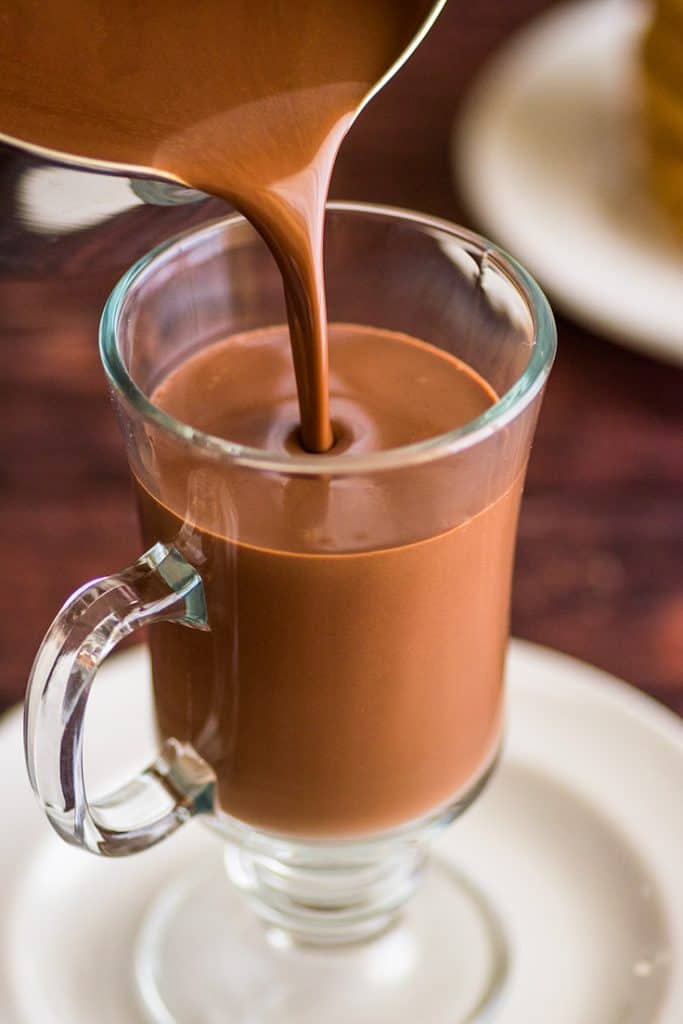 This Rich and Thick Hot Chocolate for One is dangerously easy to make.   #HotChocolate   #RecipeForOne   #Chocolate   #Christmas  