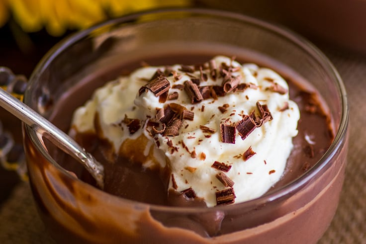 This Chocolate Pudding for Two is absolutely indulgent and decadent and one of the easiest things in the world to make. | #chocolate | #dessert | #dessertfortwo | #pudding |