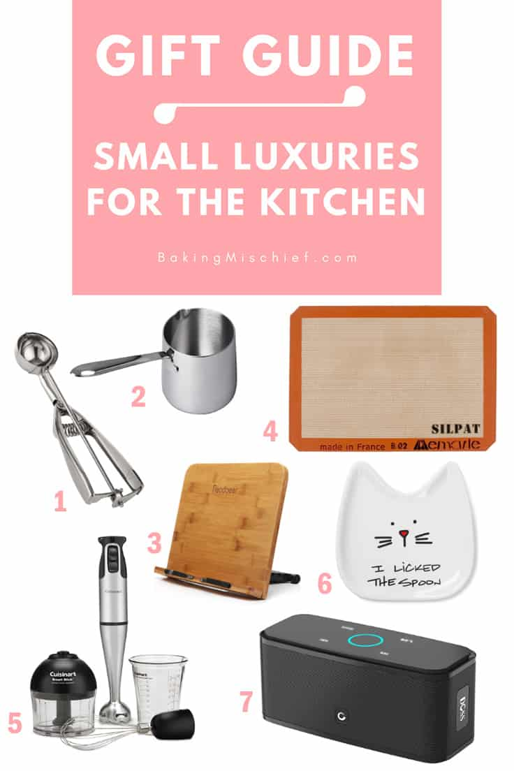 Small luxuries for the kitchen, the perfect gifts for friends and family who love to cook. | #giftguide | |#Christmas |