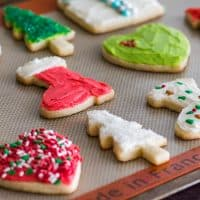 This Small Batch of Cut-out Sugar Cookies recipe makes just 8 to 12 perfect sugar cookies and is quick and easy, with no dough chilling time required! | #cookies | #sugarcookies | #ChristmasCookies |