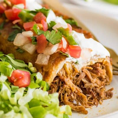 Carnitas Enchiladas (Pulled Pork Enchiladas)