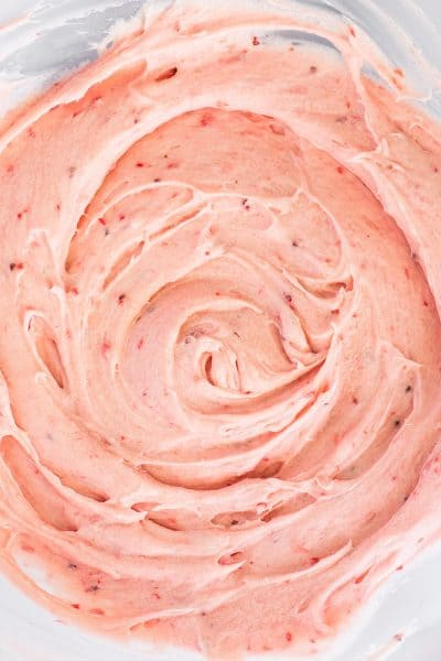 Small-batch Strawberry Frosting Made With Fresh Strawberries