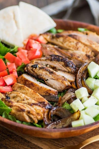 Easy Chicken Shawarma Salad