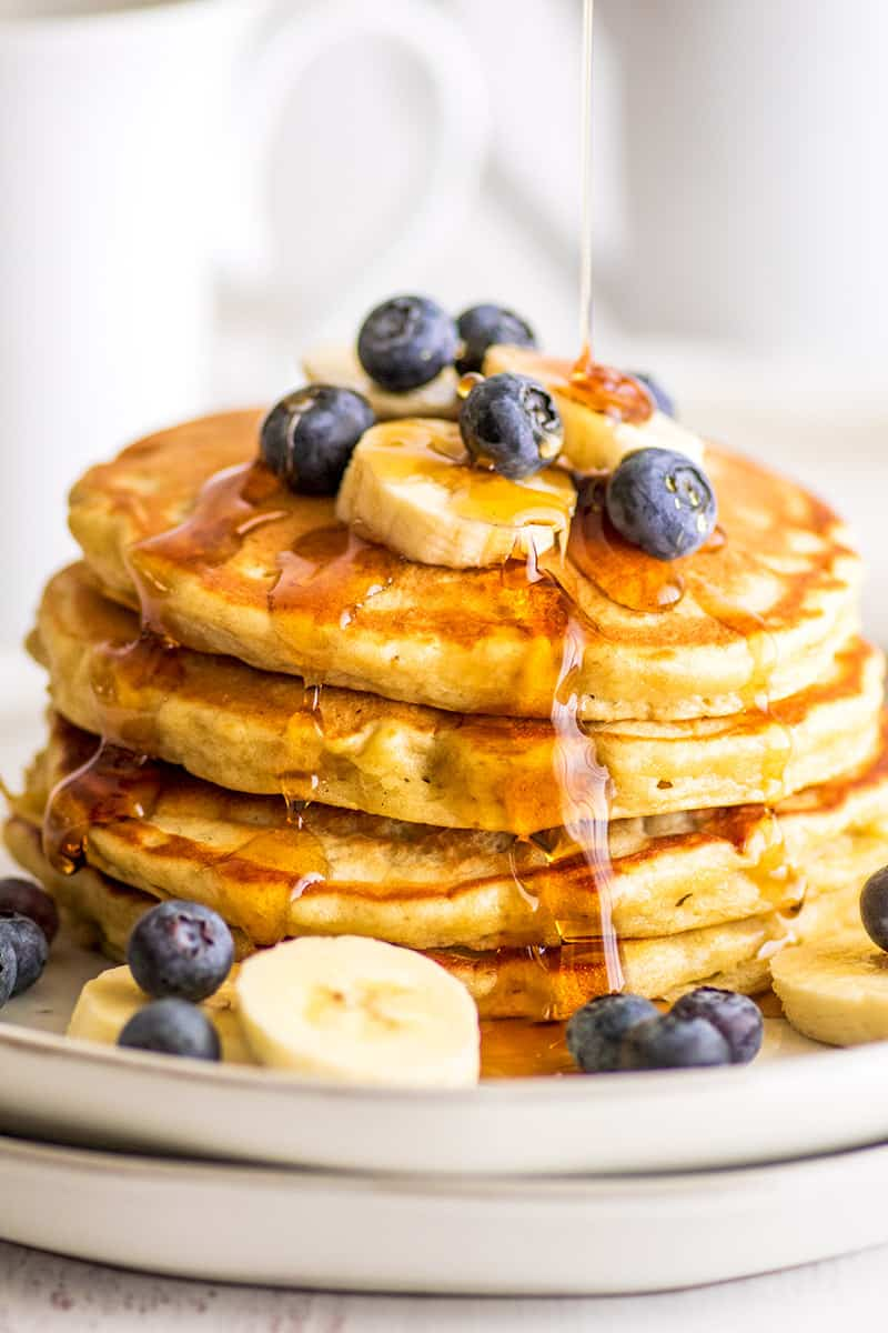 Easy Banana Pancakes for Two - Baking
