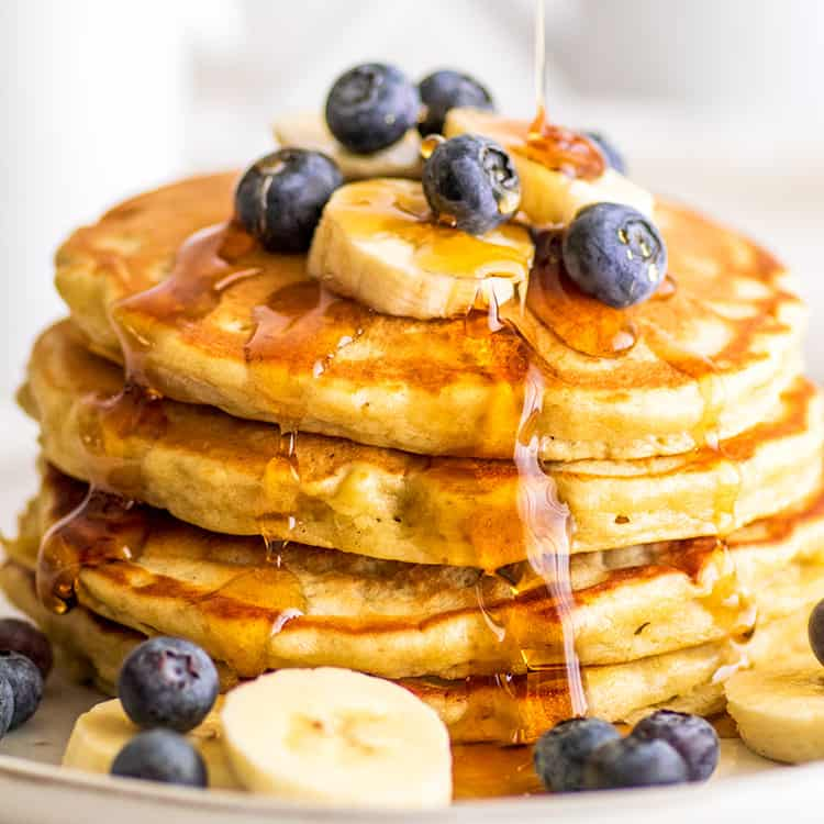 Easy Banana Pancakes For Two Baking Mischief