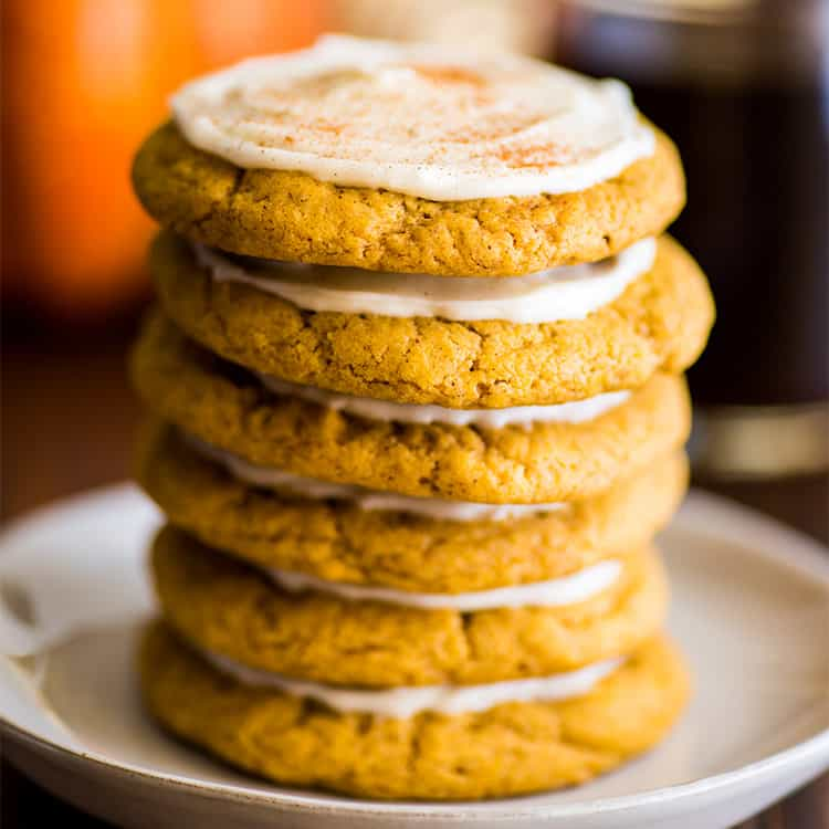 Small-batch Soft Pumpkin Cookies With Cream Cheese