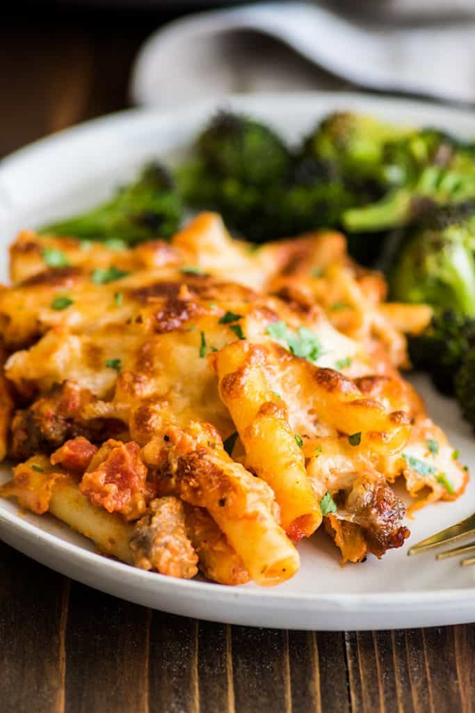 Easy Baked Ziti Recipe Dinner For Two Baking Mischief