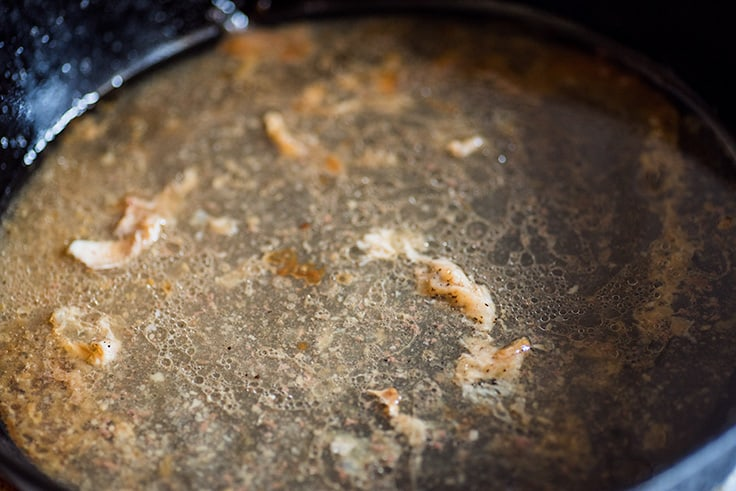 Photo of How to Make Gravy From Drippings step 1: pan drippings getting ready to be browned.