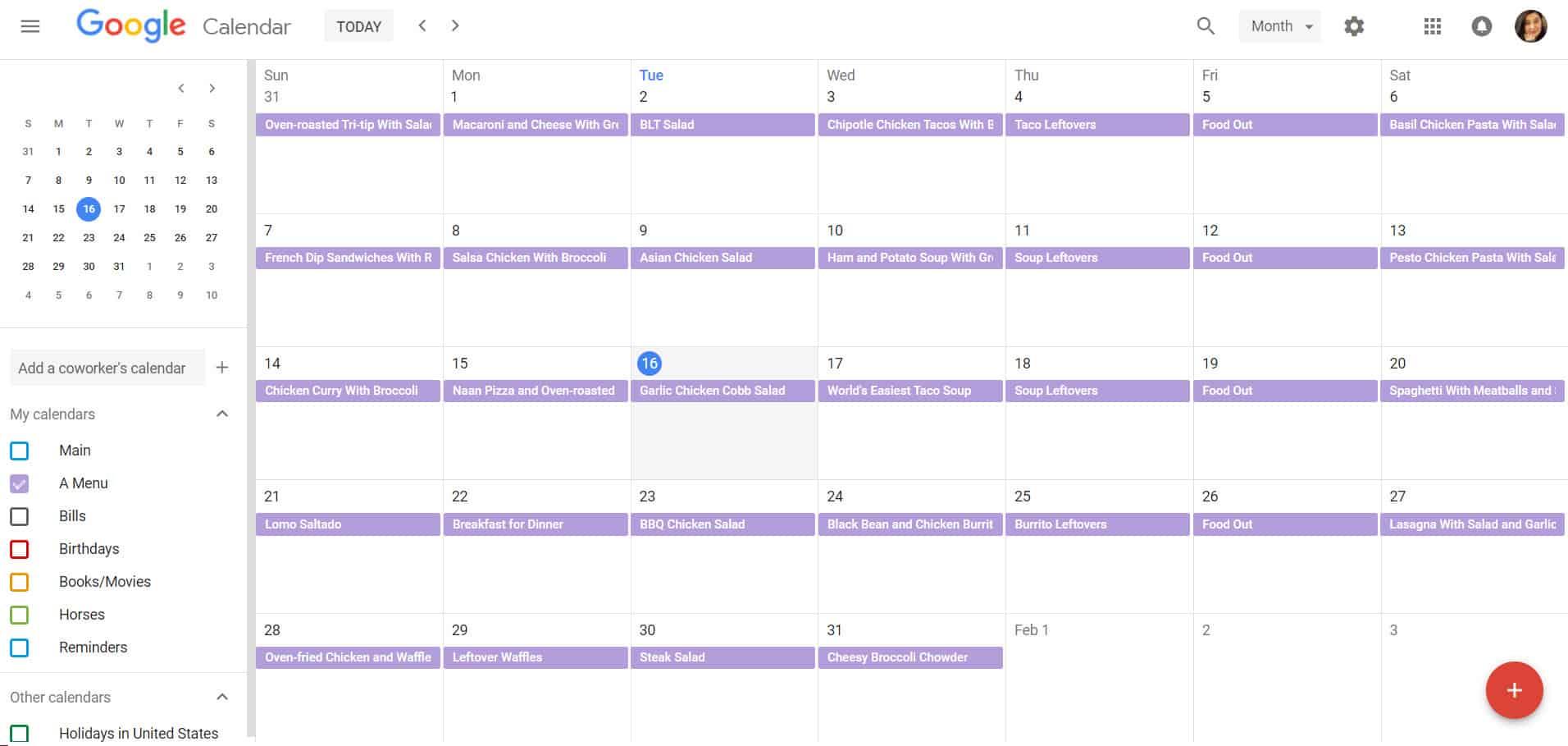 Meal Calendar | Meal Planing 101 How To Meal Plan Using Google Calendar Baking