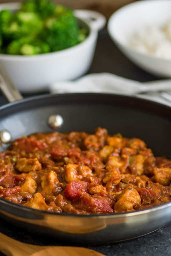 Image of Easy Chicken Curry in pan.