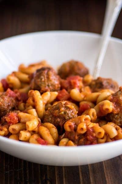 Dinner for Two One-pot Homemade Spaghettios