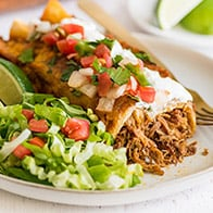 Carnitas Enchiladas (Pulled Pork Enchiladas)