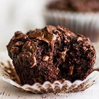 Small-batch Chocolate Banana Muffins (One-banana, One-bowl)