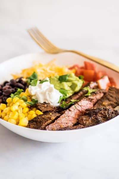 Carne Asada Burrito Bowls