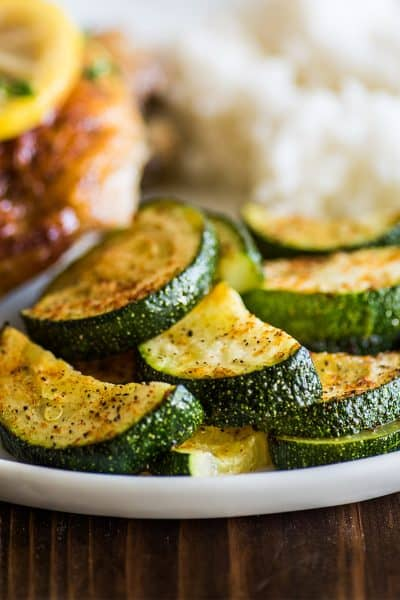 Easy Roasted Zucchini