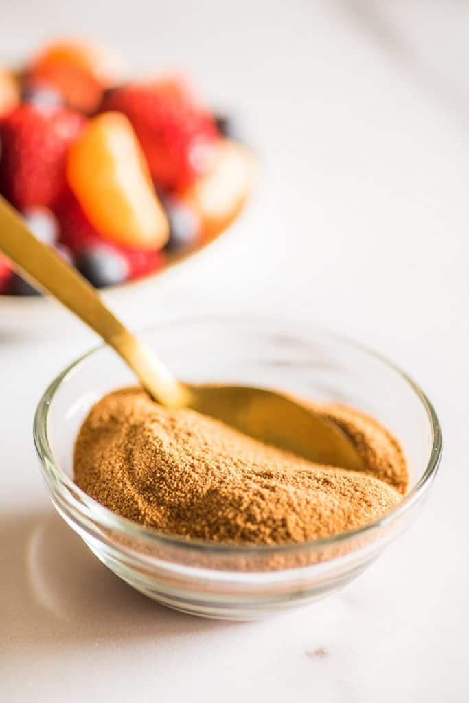 Photo of Cinnamon Sugar in a small bowl.