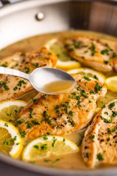 Chicken in White Wine Lemon Butter Sauce