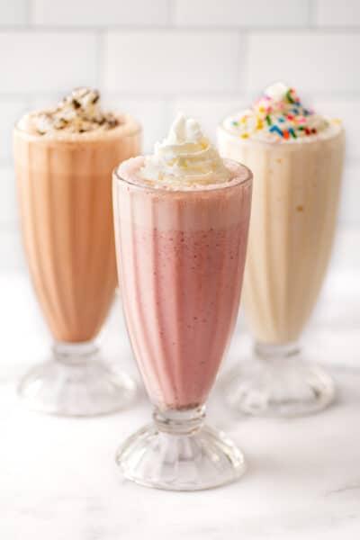 Milkshake Recipes Cheat Sheet (How to Make Almost Any Milkshake)